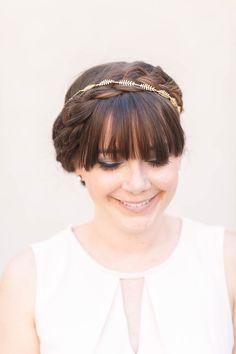Tiny Fern Vine Crown - Bridal of speciale gelegenheid Boho hoofdband, kroon…