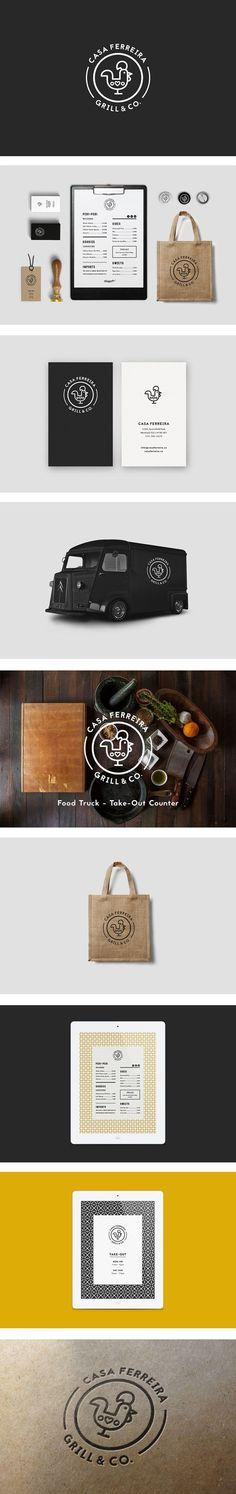(53) Inspiration graphique #3 : 10 identités visuelles à découvrir pour ce début d'année 2015 / Branding / Ideas / Inspiration / Brand / Design / Visual Identity / Restaurant / Grill House / Lin Art / Rooster / Classic