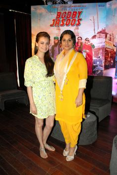 Vidya Balan & Dia Mirza at an event to launch the 'Bobby Jasoos blog'. #Style #Bollywood #Fashion #Beauty