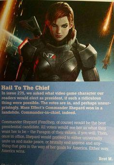 Commander Shepard for President!