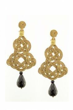 Chandelier Earrings  - Antique gold