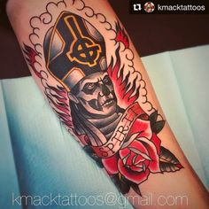 Children of Ghost Band Ghost, Ghost Bc, Ghost Papa Emeritus, Horror Movie Tattoos, Ghost Tattoo, Cool Tattoos, Awesome Tattoos, Tatoos, Skin Drawing