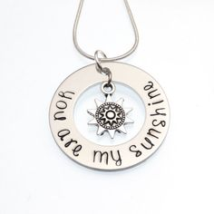 You Are My Sunshine Necklace  Hand Stamped by CathysCreationsJwlry