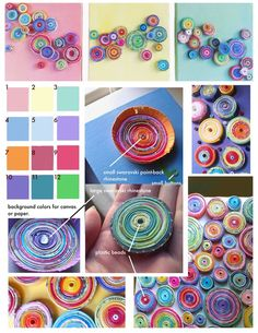 Small, Colorful Paper Swirls. Quite the Artist!