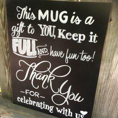Guest Wedding Favor Mason Jar or Mug Hand by MamaCottenCrafts