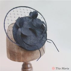 Black orchid coctail hat. Tiia Maria Fall 2013.