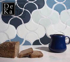 Hand Made Wall Fan Tiles from DeKa Tiles Studio