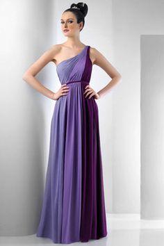 one shoulder purple Bridesmaid Dresses