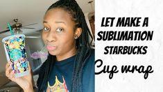 #sublimation #starbucks #starbuckstumblers #leopard #starbuckscup #diystarbuckscup #tumbler #svg #svgcupwrap Starbucks, Cricut Craft, Tumblers, How To Make
