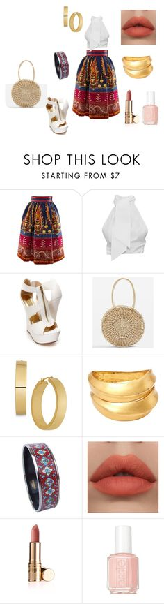 """""""cute"""" by luisa-4 ❤ liked on Polyvore featuring Stella Jean, Topshop, Lanvin, Hermès and Essie"""
