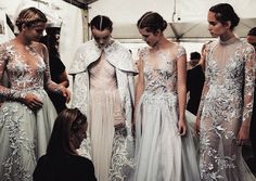 runwayandbeauty:  The Snow Maiden: Backstage at Paolo Sebastian Couture Fall/Winter 2016. Photo by Meaghan Coles.