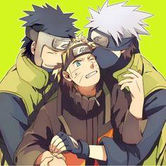 Yamato, Naruto, and Kakashi