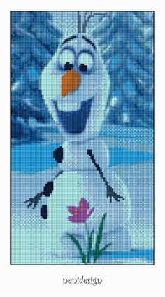 Cross stitch pattern  Olaf  Frozen  Instant Download by NeniDesign, $3.50