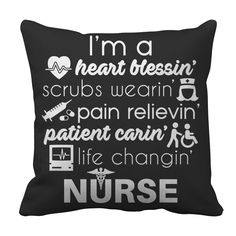 Nurse Pillow Case - I'm A Heart Blessin'... Nurse