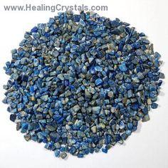 Tumbled Lapis Lazuli Chips- Lapis Lazuli - Healing Crystals