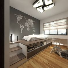 New Modern Wood Bed Small Bedrooms 23 Ideas Home Interior Design, Interior Design Bedroom, House Rooms, Minimalist Bedroom Design, Home Room Design, Bedroom Interior, Minimalist Bedroom, Apartment Design, Home Bedroom