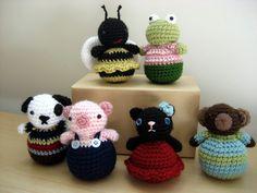 Crochet Roly-Poly Animal Pattern Set