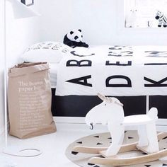 Check out this pic from Carly & Leighton's Kids Bedroom on The Block Au featuring Le Sac En Kraft (Brown paper bag). These bags are a must-have for every home. Use them as a big storing linen or even kids toys! #lesac #lesackraftbrun #homedecor #forkeepsstore #kidsdecor