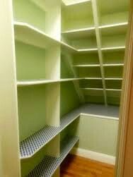 Great for that hidden cupboard . I love this granny cupboard look