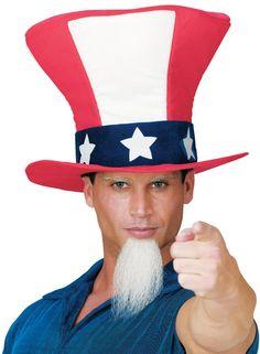 Uncle Sam Hat W Beard…
