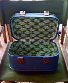 Step by step interior make over;  Jed and Ivy: Vintage Train Case (thanks, Becca!)