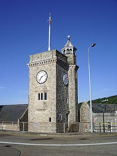 Clock Tower, Prince of Wales Pier, Dover Marina, Western Docks, Kent, UK