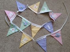 Appliqued bunting by Sew Nanny Annie