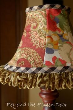 "I found this blog: beyondthescreendoor.com just by accident today and WOW am I glad I did.  Look at this adorable ""Country French"" lampshade.  What a talent!!!!  You just have to visit to believe it all!!!"