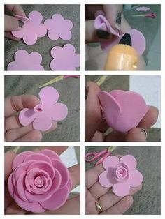 Fascinating free course: Learn to make ribbon flowers step . - Fascinating free course: Learn to make ribbon flowers step …- Fascinating free course: Learn to m - Paper Flowers Wedding, Paper Flowers Diy, Handmade Flowers, Flower Crafts, Fabric Flowers, Felt Diy, Felt Crafts, Felt Flowers Patterns, Fleurs Diy