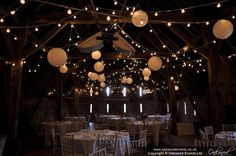 Oakwood Events: Portfolio of stunning wedding and event lighting images including fairy lights, lanterns and chandeliers. Event Planning Business, Event Planning Design, Wedding Planning, Wedding Ceiling, Fairy Lights Wedding, Event Lighting, Paper Lanterns, Wedding Venues, Wedding Ideas
