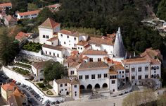 The Sintra National Palace is located in the town of Sintra, in Portugal near Lisbon.