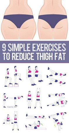 9 Simple Exercises to Reduce Thigh Fat More by cheri