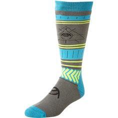 Volcom See All Snow Socks Black ($27) ❤ liked on Polyvore featuring men's fashion, men's clothing, men's socks, black, men and mens socks