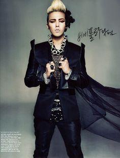 G-Dragon (of Big Bang) in Vogue Korea, December 2011