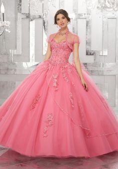 Vestidos de quinceañera color rosa 2017 Mori Lee