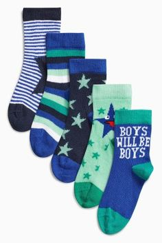 Buy Green Star Socks Five Pack (0-12mths) online today at Next: Hungary