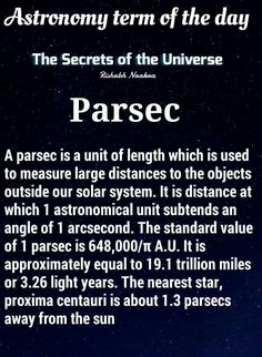 So 12 parsecs really is impressive.                                                                                                                                                                                 More
