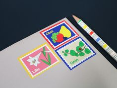 Full sheet Stamp Sticker - Fruit, Flower, Plant : 웬아이워즈영 | wheniwasyoung - 디자인문구 브랜드 홈페이지 Brand Packaging, Packaging Design, Branding Design, Sign Design, Print Design, Poster Fonts, Japanese Graphic Design, Postcard Design, Communication Design