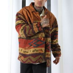 Megentle offers fast fashion at designer boutique quality. Mens Knit Sweater, Knit Jacket, Collar Designs, Men's Coats And Jackets, Vintage Men, Sleeve Styles, Men Casual, Geometric Patterns, Mens Tops