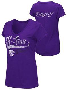 Shop Kansas State K-State Wildcats Colosseum WOMEN Purple EMAW V-Neck T-Shirt