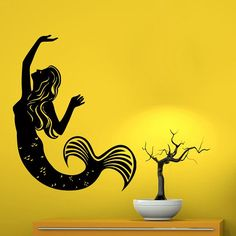FREE SHIPPING Wall Decals Fairy Girl Mermaid Sticker Girl Room Home Bathroom Decor Home Vinyl Sticker Kids Nursery Baby Room Decor Dear Buyers,