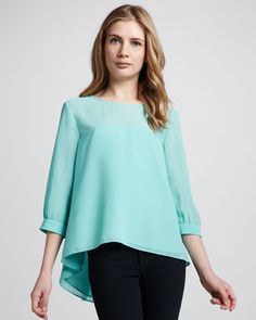 Summer Spells Arch-Hem Blouse by French Connection at Neiman Marcus.