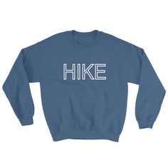 A sturdy and warm sweatshirt bound to keep you warm in the colder months. A pre-shrunk, classic fit sweater thats made with air-jet spun yarn for a soft feel. With every purchase of the HIKE crewneck 20 % of proceeds will be donated to Leave No Trace. https://lnt.org/ Feel good