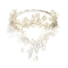 Silver Hair Vine Wedding, Silver Hair Crown, Grecian Crown, Bridal Tiara, Romantic, Forest