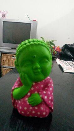 Buda verde cn fucsia