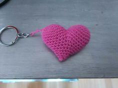 Llavero corazón rosa