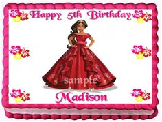 ELENA OF AVALOR EDIBLE CAKE TOPPER BIRTHDAY CAKE DECORATION