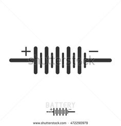 BATTERY. Electronic circuit symbols.