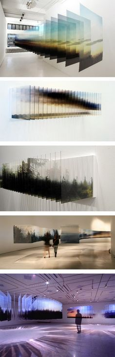 A good example of using flat surfaces to create Three Dimensions Version Modern Art, Contemporary Art, Instalation Art, Photocollage, Exhibition Display, Art Abstrait, Environmental Design, To Infinity And Beyond, Sculpture