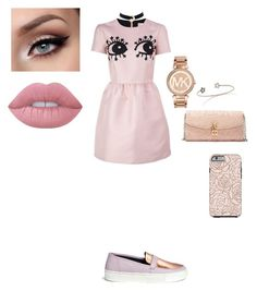 """Untitled #443"" by octahate-5sos on Polyvore featuring RED Valentino, Eugène Riconneaus, J.Crew, Dolce&Gabbana, Michael Kors and Lime Crime"